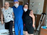 Kangren olan bacakları komşusunun tavsiye ettiği doktor sayesinde kurtuldu
