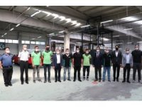Vali Atay, elektrikli araç üreten fabrikayı gezdi
