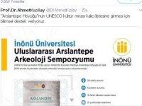 Rektör Kızılay'dan Arslantepe'ye destek