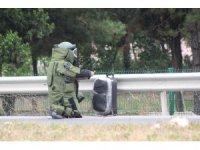 Yol kenarına bırakılan şüpheli valiz paniğe sebep oldu