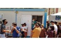 Antalya'da korona virüs testi kuyruğu tepkisi