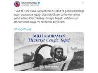 Başkan Çerçioğlu, şehit Yüzbaşı Cengiz Topel'i Unutmadı