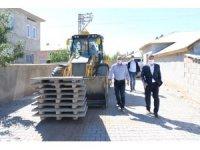 Erciş Belediyesinden kilitli parke taşı döşeme çalışması