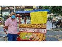 Mardin'de mısır ustasından Sağlık Bakanı Koca ve sağlık çalışanlarına anlamlı destek