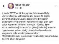 """Oğuz Tongsir: """"10 kişilik bir grup spor salonunun kilitlerini kırdı"""""""