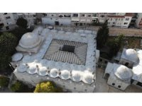 Tepkilerin ardından klima üniteleri kaldırılan 472 yıllık Mihrimah Sultan Cami Külliyesi havadan görüntülendi