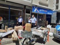 Iğdır'da kaldırımları işgal eden kargo firmaları uyarıldı