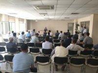 Burhaniye'de imam ve muhtarlara koronavirüs toplantısı