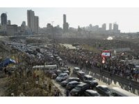 Beyrut'ta şiddetli patlamada hayatını kaybedenler için anma töreni