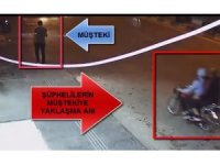 Motosikletli kapkaççı kamerada