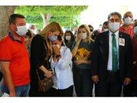 Öldürülen avukatın cenazesinde gözyaşları sel oldu