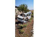 Mardin'de otomobil şarampole yuvarlandı: 1 yaralı