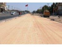 Şanlıurfa' Akçakale yolunda stabilize yol çalışması tamamlandı