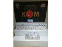 Asayiş uygulamasında 990 paket kaçak sigara ele geçirildi