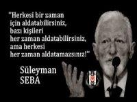 Beşiktaş'ın Onursal Başkanı Süleyman Seba mezarı başında anıldı.