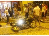 Ters yönden gelen elektrikli bisiklet kazaya neden oldu