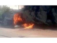 Tartıştığı kardeşinin minibüsüne benzin döküp yaktı