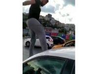 Alibeyköy'de trafikte kadına dehşeti yaşattı