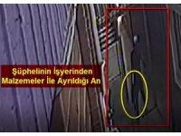 İş yerinden hırsızlık anları güvenlik kamerasında