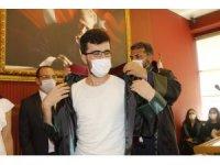 Mersin'de 11 stajyer avukat yemin edip cübbe giydi