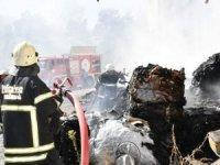Tekirdağ'da geri dönüşüm tesisinde yangın, duman geniş alana yayıldı