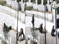 Silahlı tatbikat yapan Yunan askeri birlikler köy halkında korkuya neden oldu.