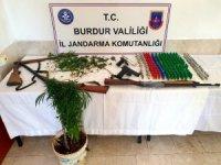 Burdur'da ormanlık alana kenevir eken 2 kişi tutuklandı