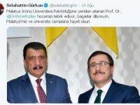 Rektör Kızılay'ın tekrar atanmasına başkanlardan tebrik