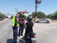 Antalya'da jandarmadan motosiklet sürücülerine denetim