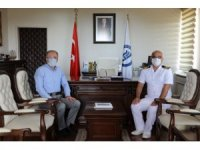 Garnizon Komutan Çalışkan'dan Rektör Uzun'a veda ziyareti