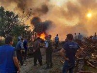 Kastamonu'da çıkan yangında 3 ev, 3 samanlık, 5 ahır ve bir ambar yandı
