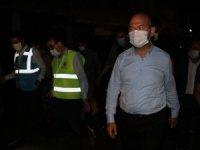 Bakanlar Pakdemirli, Dönmez ve Kurum Giresun'daki selin ardından temizleme çalışmalarını takip ediyor