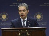 Dışişleri Bakanlığı Sözcüsü Hami Aksoy Fransız askeri uçaklarının GKRY'ye inmesine sert tepki gösterdi