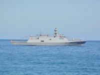 TCG İnebolu askeri gemisi Beyrut Limanı'nda