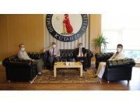 İdare Mahkemesi Başkanı Cengiz'den Rektör Uysal'a ziyaret