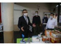 Başkan Kalaycı, korona virüs tedbirlerini denetledi