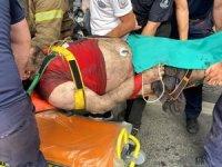 Ayağı kopan ve ağır yaralı olarak hastaneye kaldırılan şahıs kurtarılamadı.