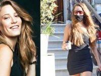 Serenay Sarıkaya, önceki gün Kuruçeşme'de süper mini elbisesiyle görüntülendi.