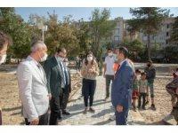 Başkan Vekili Aslan yapımı devam eden parkta incelemelerde bulundu