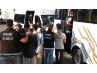 Torbacılara şafak operasyonunda gözaltına alınan 14 kişi adliyede