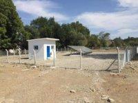 Köye güneş panelli içme suyu deposu