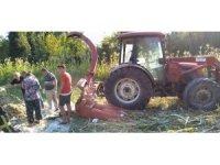 Silaj makinesi çiftçinin kolunu kopardı