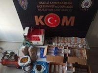Nazilli polisinden kaçak tütün operasyonu