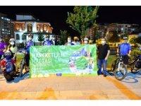 Yeşilyurt'ta bisiklet korteji