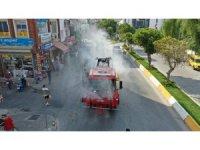 Aydın Büyükşehir Belediyesi, korona virüsle mücadelesi sürüyor
