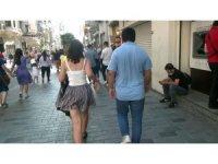 Taksim'de genç kadını takip eden kişi güven timlerince yakalandı