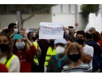 Madrid'de yarın başlayacak olan bölgesel karantina protesto edildi