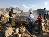 Özalp'ta ot yangını