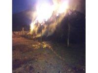 Ağrı'da meydana gelen yangında 50 ton saman kül oldu