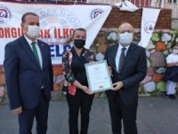 Zonguldak'ta sosyal mesafeli ilk ders zili çaldı
